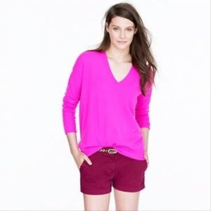 "j. crew // chino shorts 5"" inseam burgundy wine"